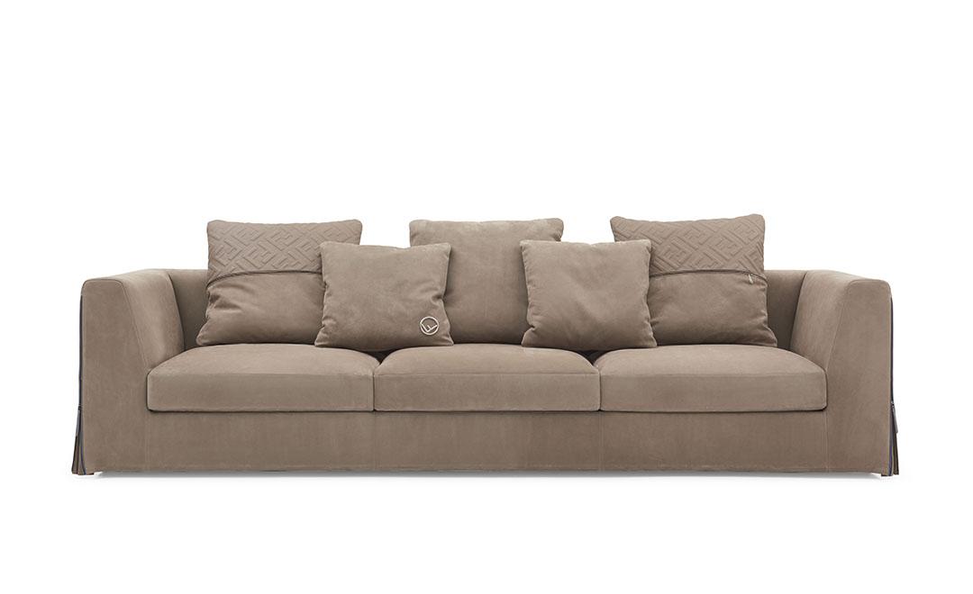 御邸進口家具 FENDI CASA Dorian sofa 01